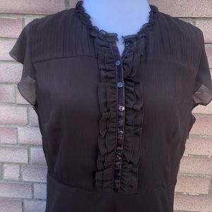 Brown Swing maxi dress Size 12